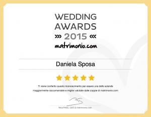 Wedding Awards 2015, premio, matrimonio, Danielasposa