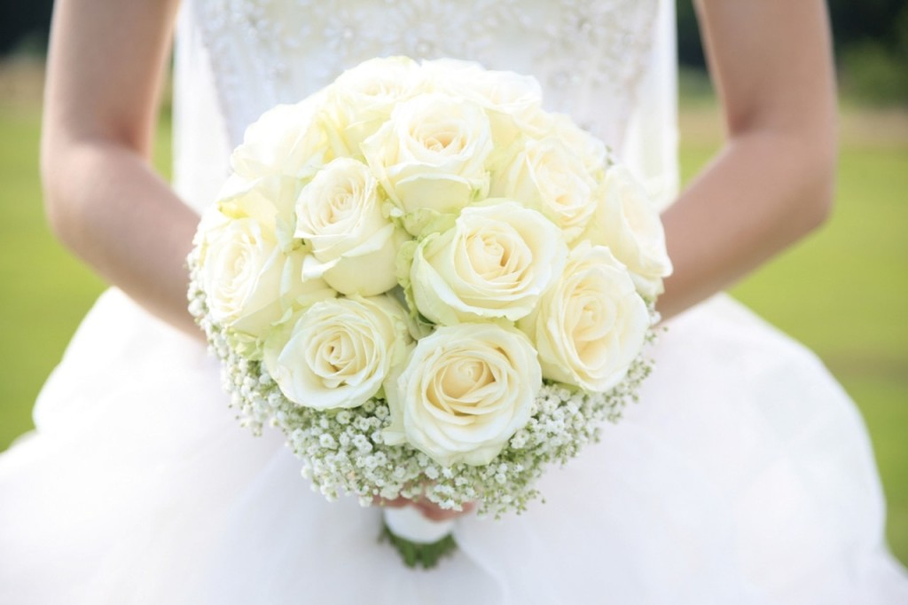 rose, bouquet, white