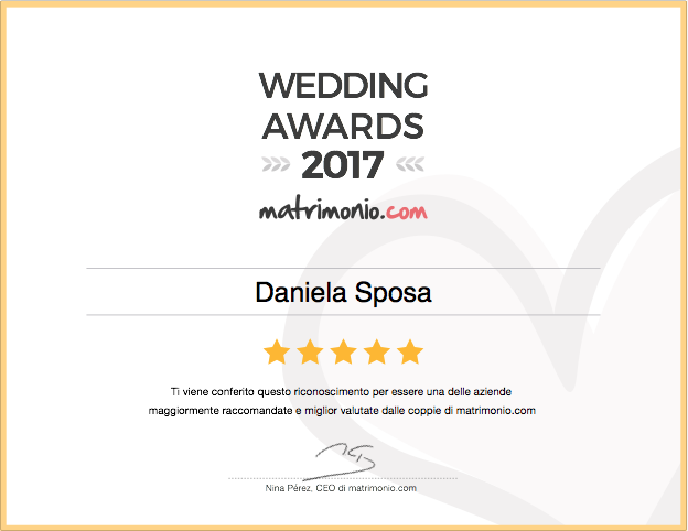 weddings awards, matrimonio