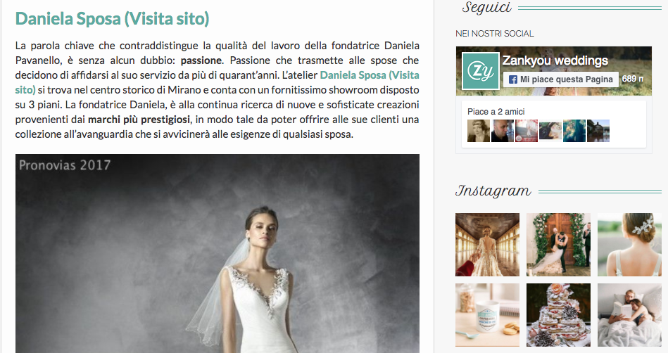 zankyou, abiti da sposa, venezia